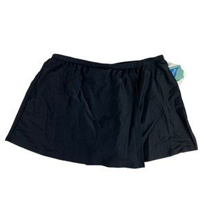 Croft & Barrow Swim Skirt Jogger 18W Black Slim